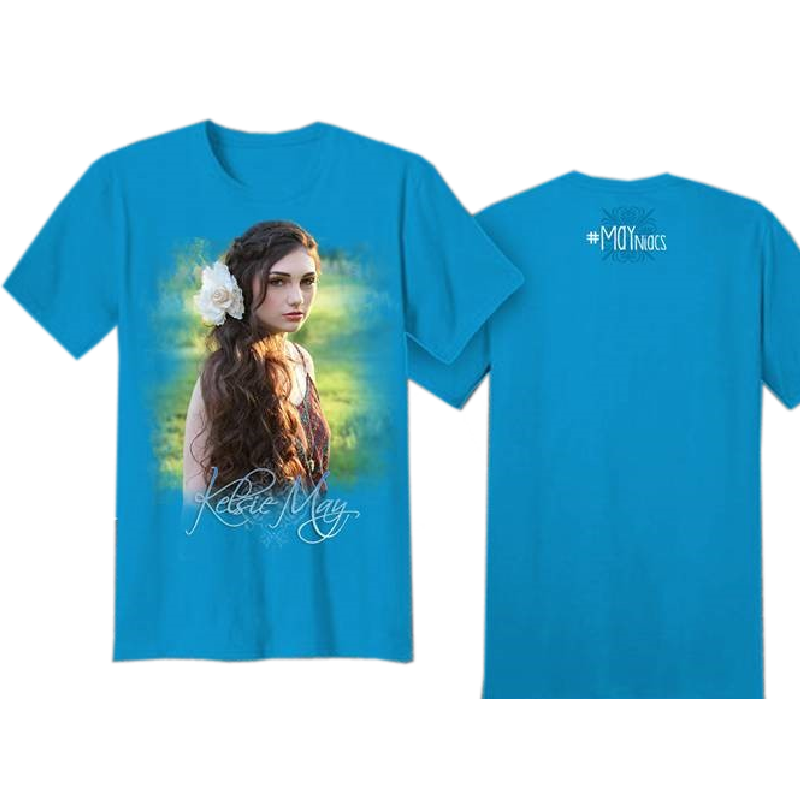 Kelsie May Youth Turquoise Photo Tee